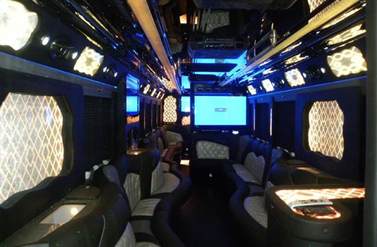 50 Passenger Luxury Bus Interior
